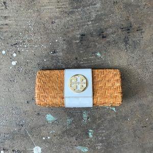 Tory Burch Basket Weave Clutch